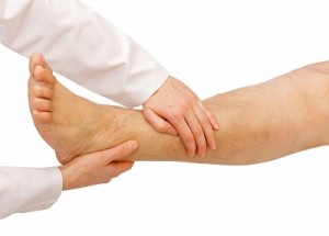podiatrist treats chronic ankle instability